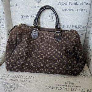 Louis Vuitton Ebene Mini Lin Speedy 30